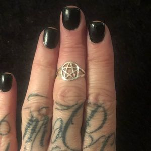Sterling Silver Pentacle Ring
